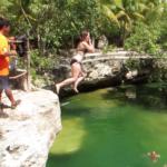 cenote-jump-girl