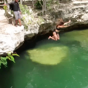 green-cenote-jump-riviera-maya